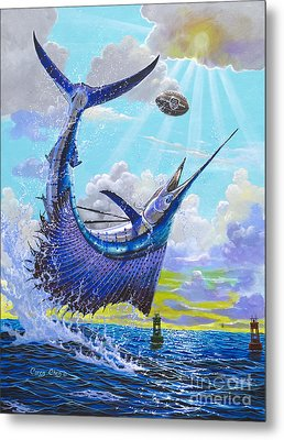 Sailfish Football Off0030 Metal Print by Carey Chen