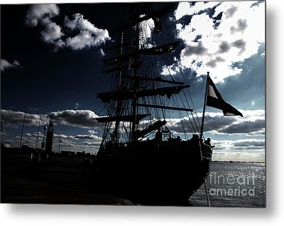 Sailing By Night Metal Print by Four Hands Art