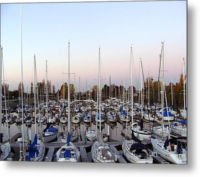Sailing Club Marina Metal Print by Dee  Savage