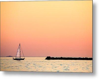 Sailing In Color Metal Print by Gary Heller