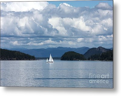 Sailing In The San Juans Metal Print by Carol Groenen