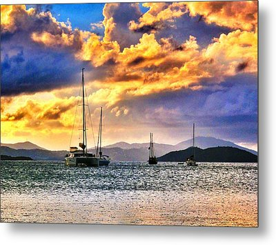 Sailing In The Sunset Metal Print by Emily Eisenberg