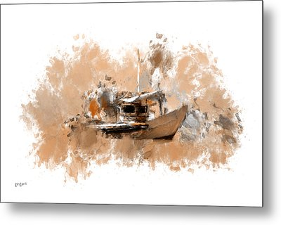 Sailing Time Metal Print by Lourry Legarde