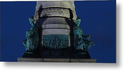 Sailors And Soldiers Monument By Night Metal Print by Stephen Melcher