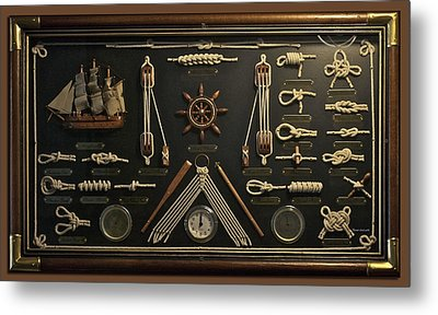 Sailors Rope Knots Metal Print by Thomas Woolworth