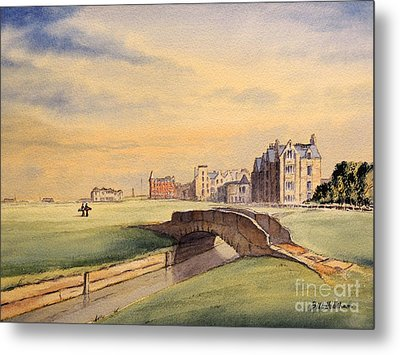 Saint Andrews Golf Course Scotland - 18th Hole Metal Print by Bill Holkham