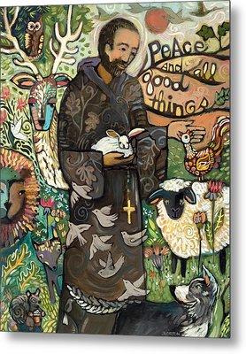 Saint Francis Metal Print by Jen Norton