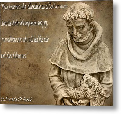 Saint Francis Of Assisi Metal Print by Dan Sproul