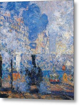 Saint Lazare Station Metal Print by Claude Monet