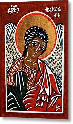 Saint Michael The Archangel Metal Print by Marcelle Bartolo-Abela