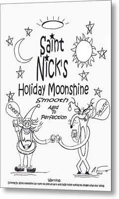 Saint Nicks Holiday Moonshine Metal Print by Anthony Falbo