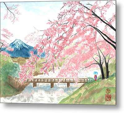 Sakura Metal Print by Terri Harris