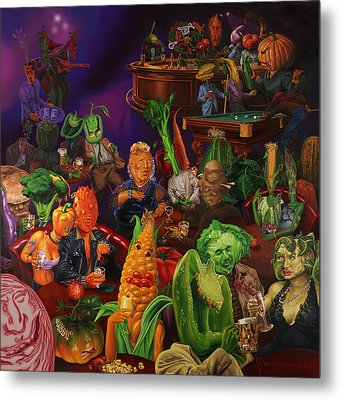Salad Bar Metal Print by Victor Powell