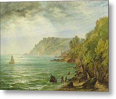 Salcombe Estuary, South Devon, 1882 Metal Print by Henry Dawson