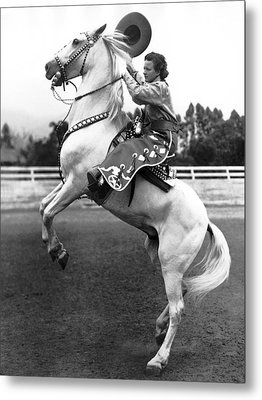 Salinas Rodeo Cowgirl Metal Print by Underwood Archives