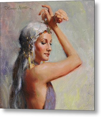 Salome Metal Print by Anna Rose Bain
