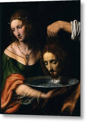 Salome With The Head Of John The Baptist Metal Print by Celestial Images