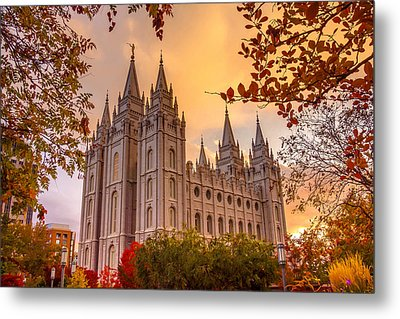 Salt Lake City Temple Metal Print by Emily Dickey