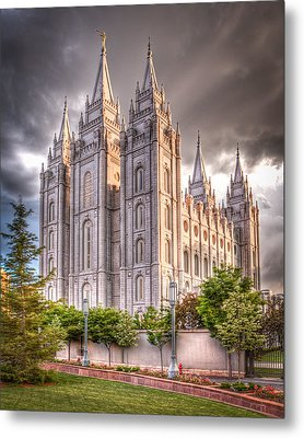 Salt Lake Temple Metal Print by Niels Nielsen