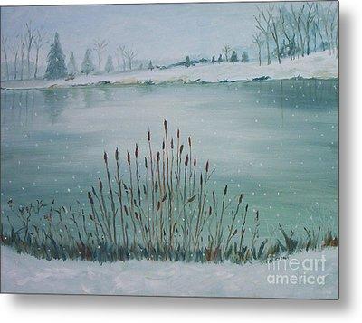 Saltville Pond Metal Print by Julie Brugh Riffey