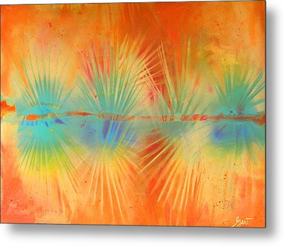Salute To The Sun Metal Print by Gertrude Palmer