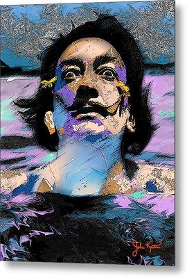 Salvador Dali Metal Print by John Keaton