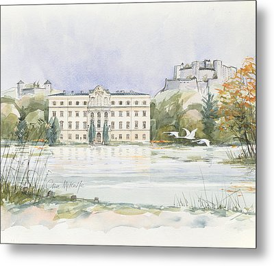 Salzburg Sound Of Music  Metal Print by Clive Metcalfe