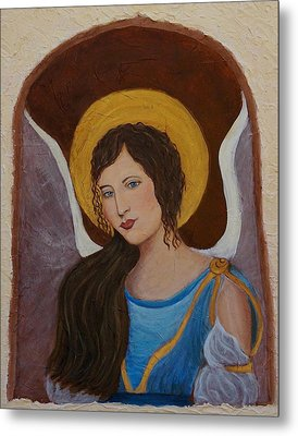 Samantha An Earthangel Metal Print by The Art With A Heart By Charlotte Phillips
