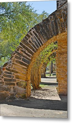 San Antonio Mission Walk San Jose Metal Print by Christine Till