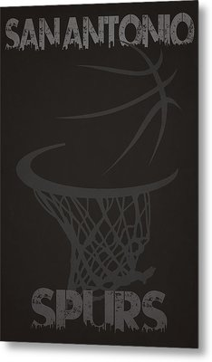 San Antonio Spurs Hoop Metal Print by Joe Hamilton