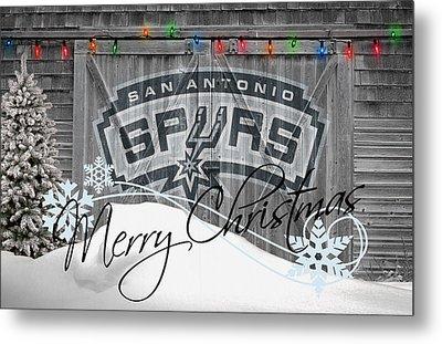 San Antonio Spurs Metal Print by Joe Hamilton