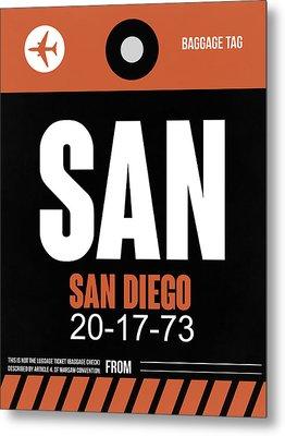 San Diego Airport Poster 3 Metal Print by Naxart Studio