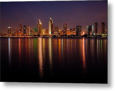 San Diego Skyline Metal Print by Peter Tellone