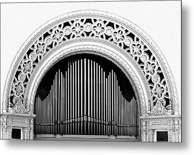 San Diego Spreckels Organ Metal Print by Christine Till
