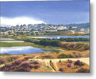 San Elijo And Manchester Ave Metal Print by Mary Helmreich