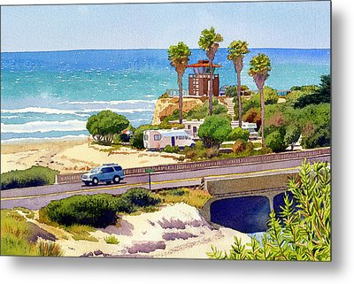 San Elijo Campground Cardiff Metal Print by Mary Helmreich