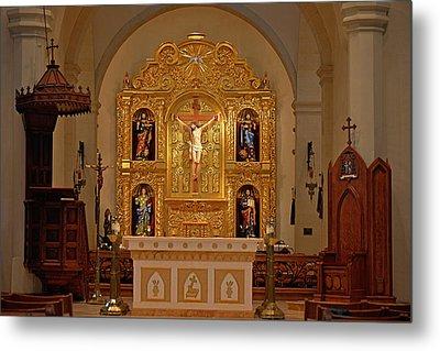 San Fernando Cathedral Retablo Metal Print by Christine Till