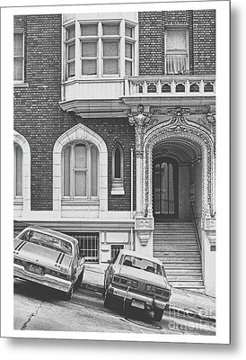 San Francisco 1981 Cars On A Slant Metal Print by ImagesAsArt Photos And Graphics