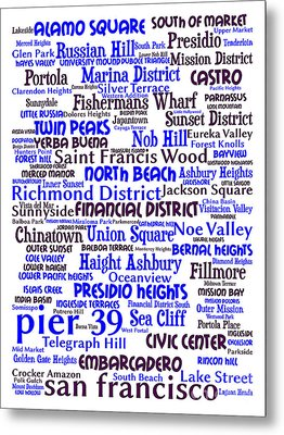 San Francisco 20130710whi Metal Print by Wingsdomain Art and Photography