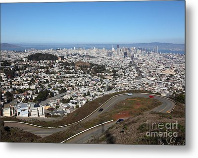 San Francisco California From Twin Peaks 5d28053 Metal Print by Wingsdomain Art and Photography