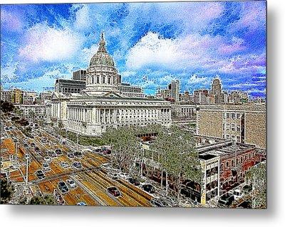 San Francisco City Hall 5d22507 Photoart Metal Print by Wingsdomain Art and Photography