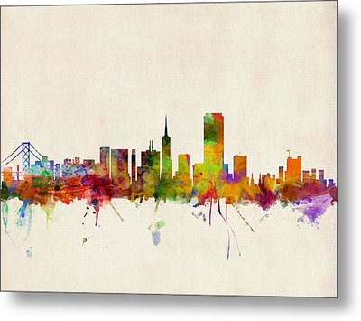 San Francisco City Skyline Metal Print by Michael Tompsett