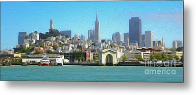 San Francisco - Cityscape - 01 Metal Print by Gregory Dyer