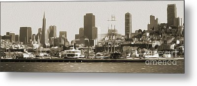 San Francisco - Cityscape - 02 Metal Print by Gregory Dyer