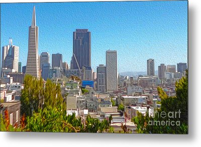 San Francisco - Cityscape - 03 Metal Print by Gregory Dyer
