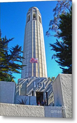 San Francisco - Coit Tower - 03 Metal Print by Gregory Dyer