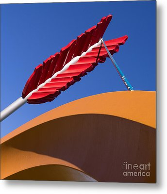 San Francisco Cupids Span Sculpture At Rincon Park On The Embarcadero Dsc1819 Square Metal Print by Wingsdomain Art and Photography