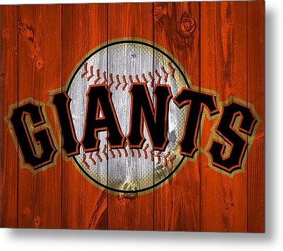 San Francisco Giants Barn Door Metal Print by Dan Sproul