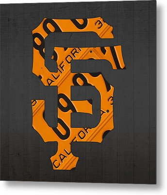 San Francisco Giants Baseball Vintage Logo License Plate Art Metal Print by Design Turnpike