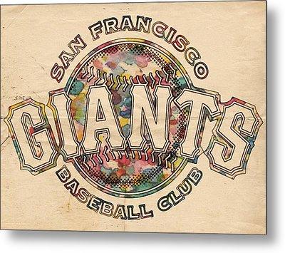 San Francisco Giants Poster Vintage Metal Print by Florian Rodarte